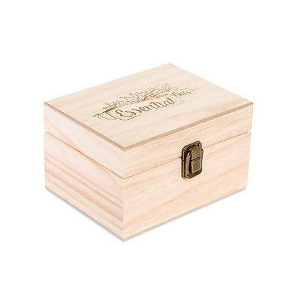 12 Count Essential Oil Logo Wooden Essential Oil Organizer Storage Box (30 ml Bo