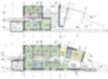 Plan aménagement projet Extension et réhabilitation d'une grange à Saint Bernard du Touvet - Amroc Architecte / Archicom4
