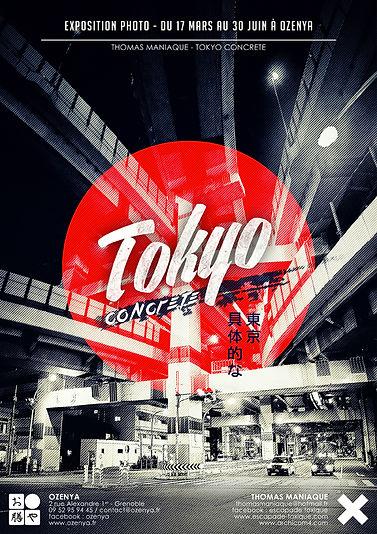 Affiche Exposition Tokyo Concrete Ozenya Japon Japan photography ville béton thomas maniaque archicom4 escapade toxique architecture