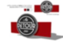 Le Détour bar vin bistrot grenoble enseigne logo communication identité visuelle Archicom4 Thomas Maniaque