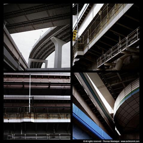 Tokyo concrete exposition photo japan japon échangeur motorway junction rainbow bridge