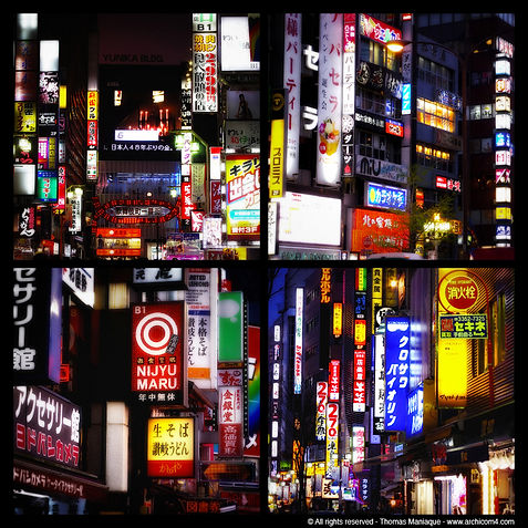 Tokyo concrete exposition photo japan japon shinjuku akihabara by night light neon sign enseigne luminous lumineuse