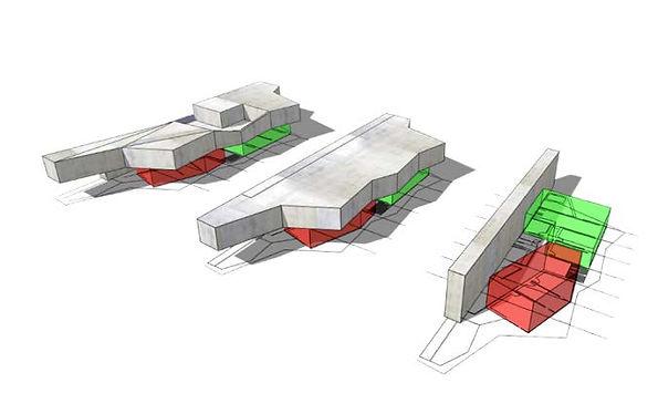 Volumétrie 3D étude construction bureaux SMBA Fontaine Amroc Architecte Archicom4