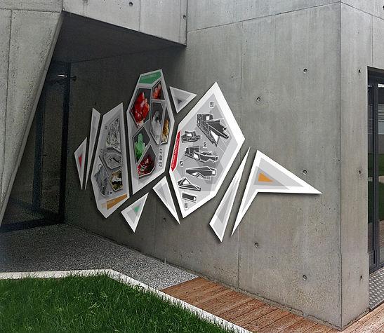 Signalétique panneaux alucobond bureaux SMBA Fontaine Archicom4