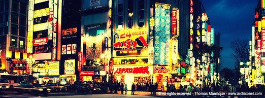 Tokyo concrete exposition photo japon shinjuku by night light neon sign enseigne luminous lumineuse