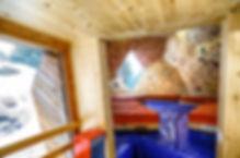 Salle escalade Finhaut Suisse frontière Yohann Favre Architecte photographie architecture ossature bois cristal diamant