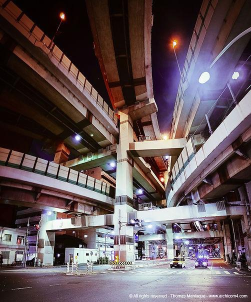 Tokyo concrete exposition photo japan japon échangeur motorway junction