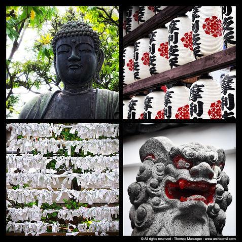 Tokyo concrete exposition photo japon religious religion statue bouddha