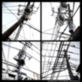 Tokyo concrete exposition photo japan japon electric post poteau électrique electricity
