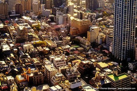 Tokyo concrete exposition photo japan japon top view vue de haut rue street couché de soleil sunset