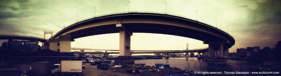 Tokyo concrete exposition photo japan japon échangeur motorway junction port architecture rainbow bridge