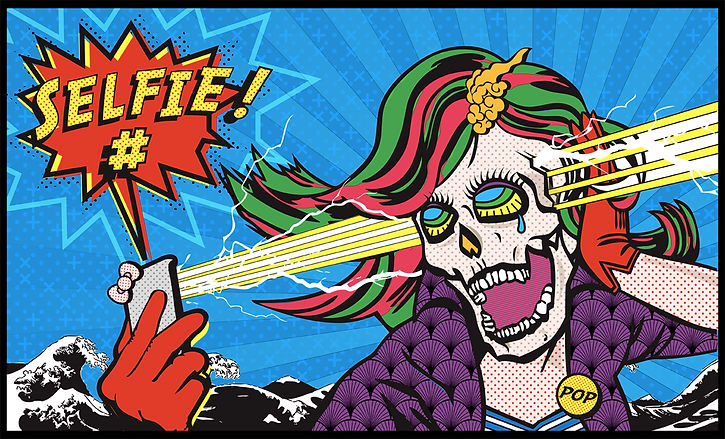 Arte Tracks Pop Art Skull hommage Keiichi Tanaami concours 2015 gagnant lauréat Thomas Maniaque