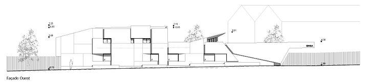 Coupe transversale projet Extension et réhabilitation d'une grange à Saint Bernard du Touvet - Amroc Architecte / Archicom4