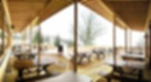 Photographie architecture Restaurant Lans en Vercors La Bulle Archicom4 Thomas Maniaque Amroc Architecte Marc Girard