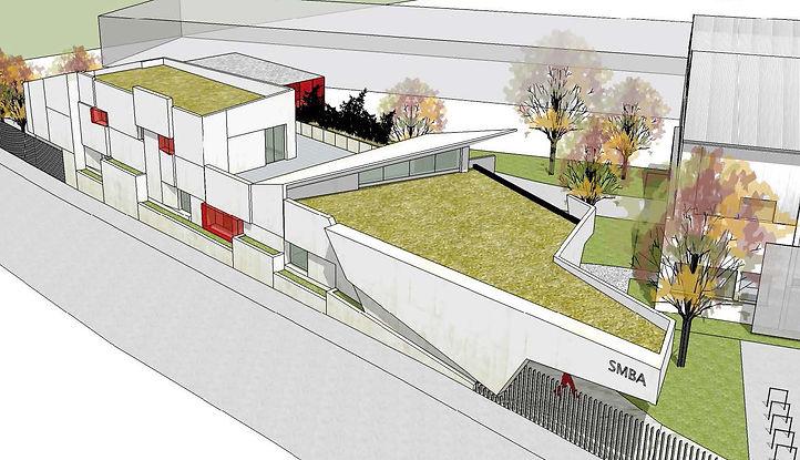 Volumétrie 3D construction bureaux SMBA Fontaine Amroc Architecte Archicom4