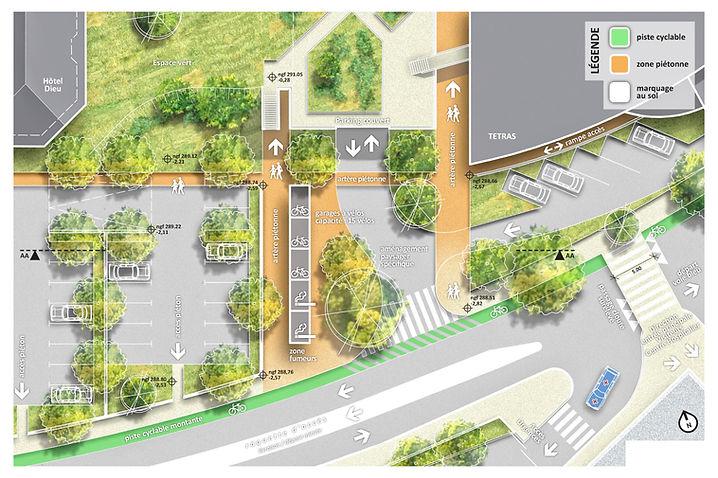 Aménagement urbain EFS hôpital Chambéry centre hospitalier Amroc Architectes Archicom4 Thomas Maniaque