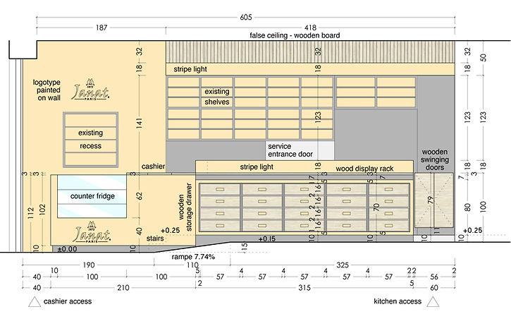 Plan masse état des lieux Extension et réhabilitation d'une grange à Saint Bernard du Touvet - Amroc Architecte / Archicom4