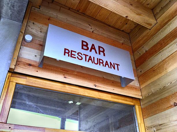 Signalétique La Bulle Restaurant Lans en Vercors Archicom4 Thomas Maniaque Amroc Architectes Marc Girard