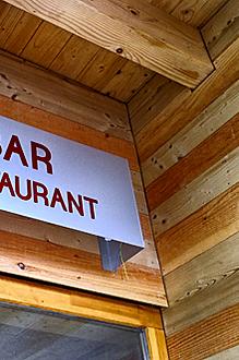 Signalétique pour le restaurant La Bulle à Lans en Vercors