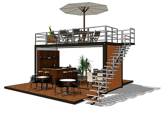 Deluxe 2-Story Pre-Fab Cafe