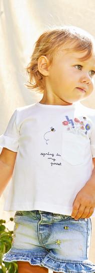 Yours Abbigliamento - Bambina con gonna di jeans Coll. Estate 2021   Newborn 0- 30 mesi Yours by 02Tandem