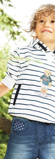 Yours Abbigliamento - Bambino con felpa Coll. Estate 2021   Baby 3- 7 anni Yours by 02Tandem