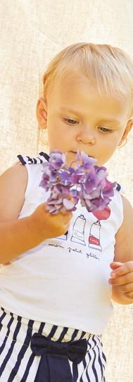 Yours Abbigliamento - Bimba con pantaloni a righe Coll. Estate 2021  Newborn 0- 30 mesi Yours by 02Tandem