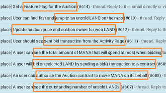 When second LAND auction?