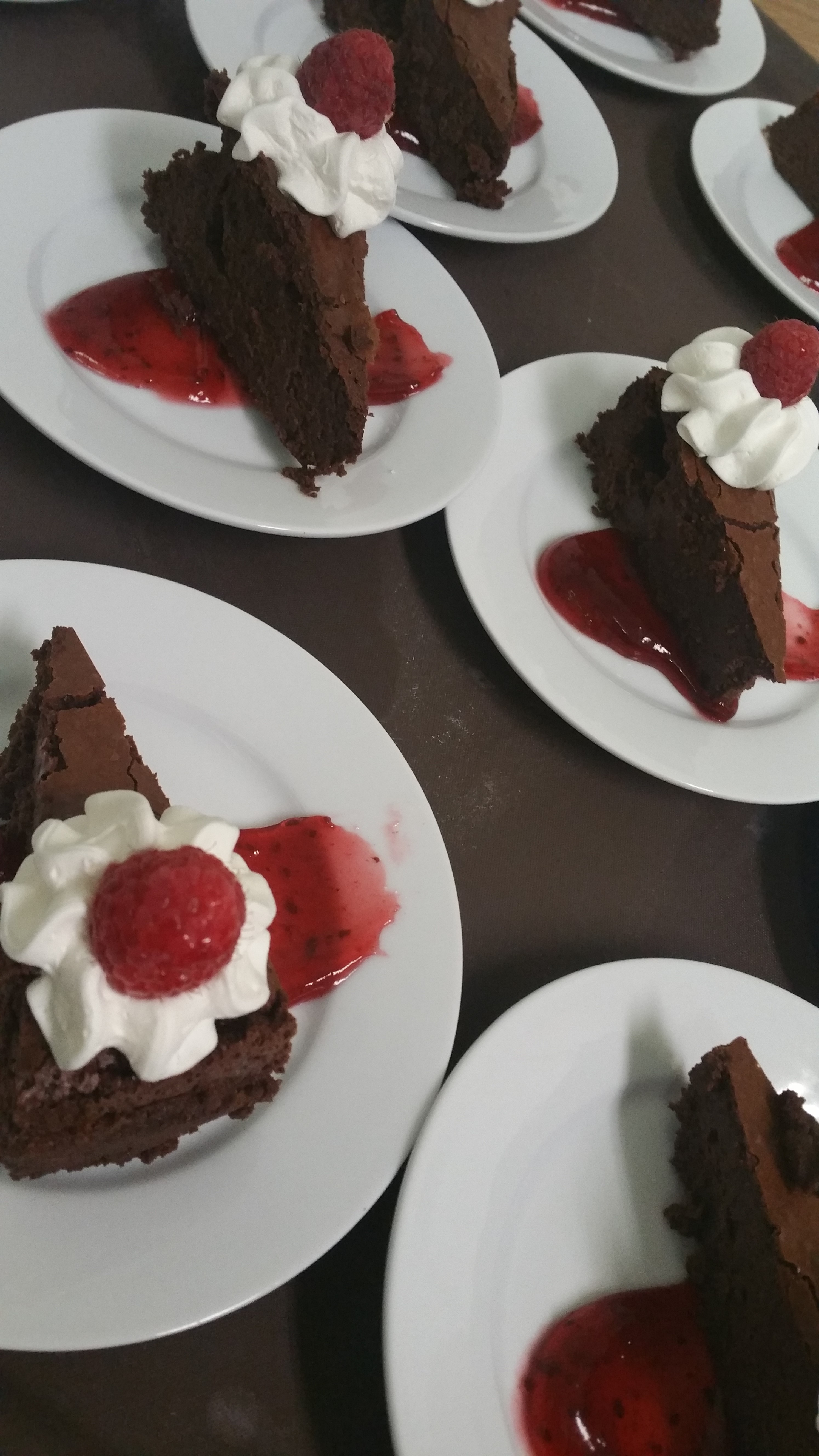 Plated Mocha Chocolate Torte