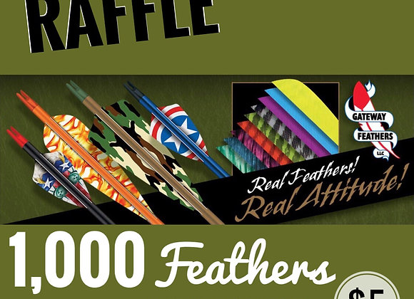 Vendor Spotlight Raffle -1,000 feathers from Gateway Feathers
