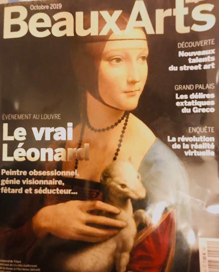 Beaux Arts magasine(Octobre2019) press/ calendrier des expossitions