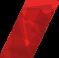 Dark red graphics over bright red stripe