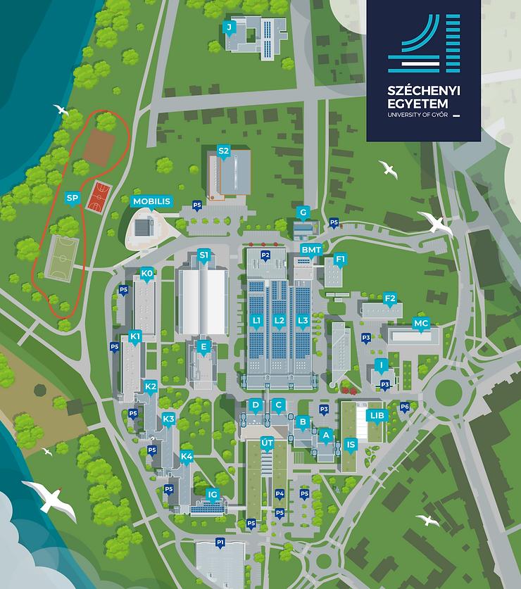 Széchenyi Egyetem campus térkép