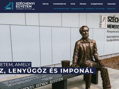 Nyereményjátékkal újul meg a Széchenyi István Egyetem honlapja