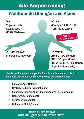 Aiki-Körpertraining Wädenswil Flyer