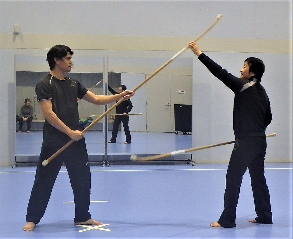 Tendo-ryu Naginata training in Tokyo
