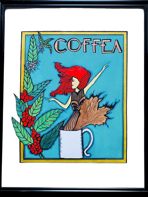 "Coffea 8""x10"" Framed Print"