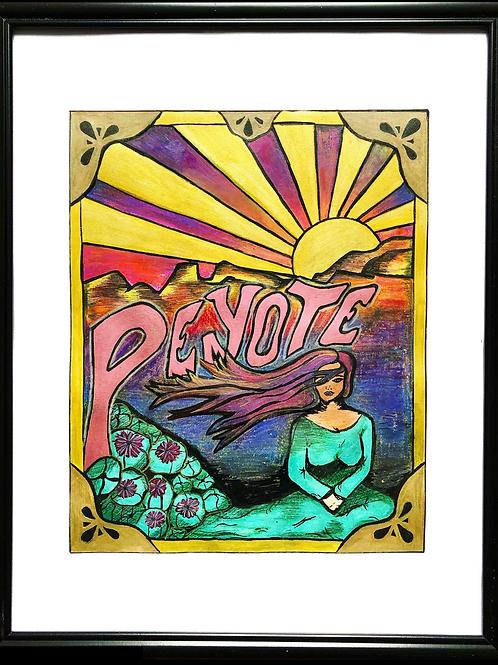 "Peyote 8""x10"" Framed Print"
