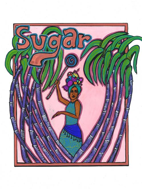 """Sugar 8""""x10"""" Framed Print"""
