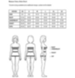 Cybelle Elena Size Chart