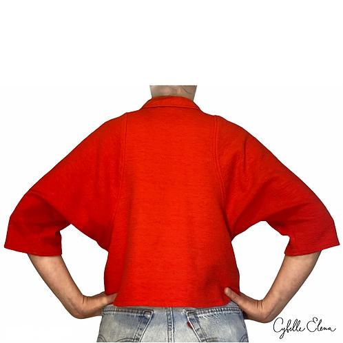 Red Dolman Sweater