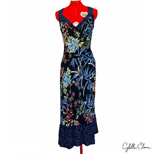 Indonesian Floral Maxi Dress