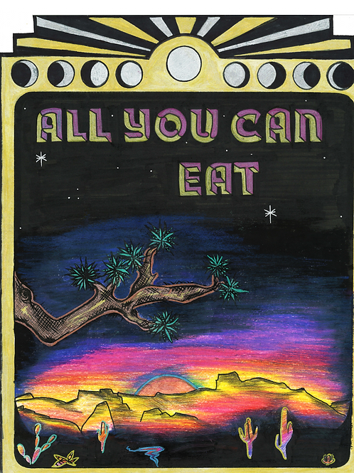 """All You Can Eat 8""""x10"""" Framed Print"""
