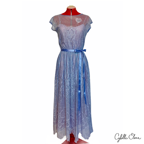 Periwinkle Lace Spring Dress