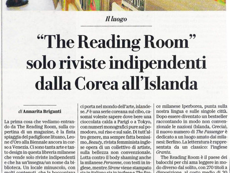 "Repubblica Milano | ""The Reading Room"" solo riviste indipendenti dalla Corea all'Islanda"