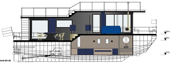 Grundriss Hausboot Blue Motion