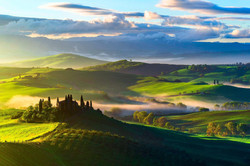 italy-tuscany-fields-trees-top-view-fog