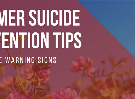 Summer Suicide Prevention Tips