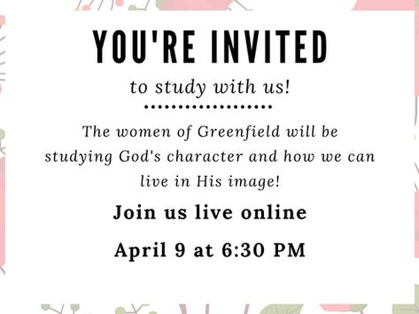 4/9/20: Women's Bible Study