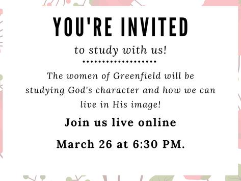 3/26/20: Women's Bible Study
